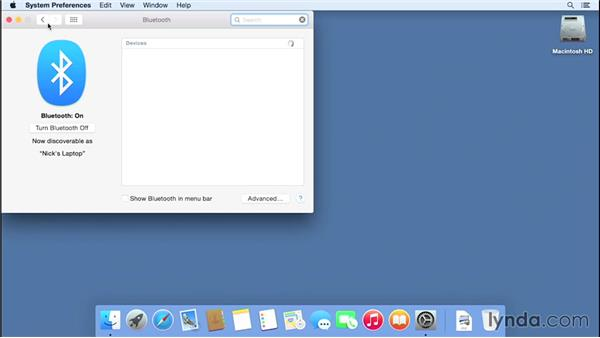 Using Handoff to transfer content to between an iPhone and a Mac: Mac OS X Yosemite Essential Training
