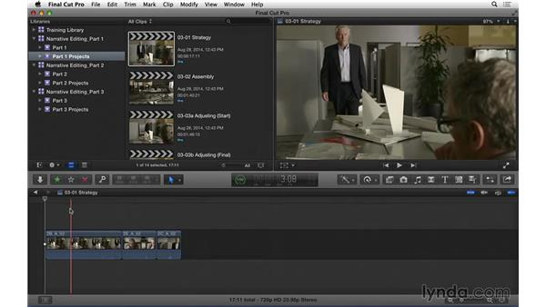 Using the exercise files: Narrative Scene Editing with Final Cut Pro X v10.1.x