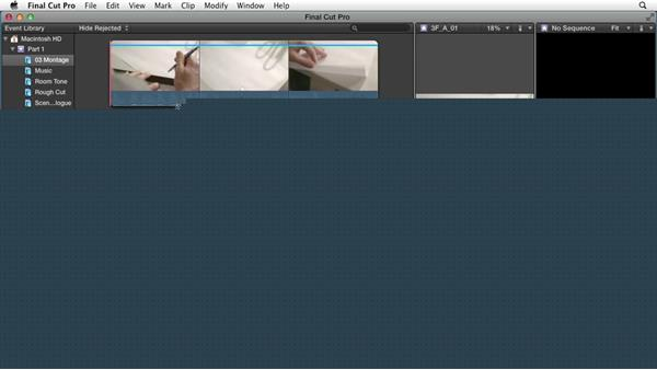Preparing the interface: Narrative Scene Editing with Final Cut Pro X v10.1.x