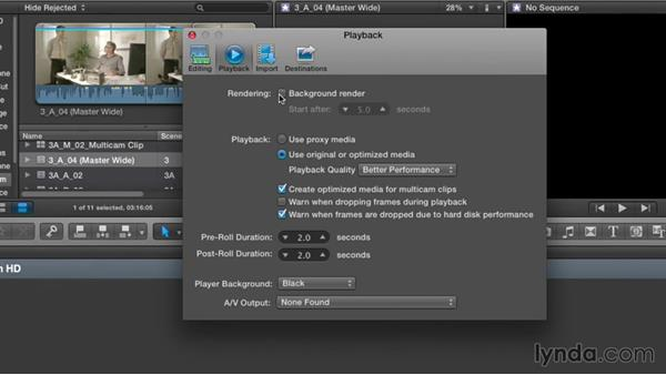 Setting preferences for narrative editing: Narrative Scene Editing with Final Cut Pro X v10.1.x