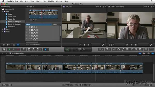 Evaluating shots and performances: Narrative Scene Editing with Final Cut Pro X v10.1.x
