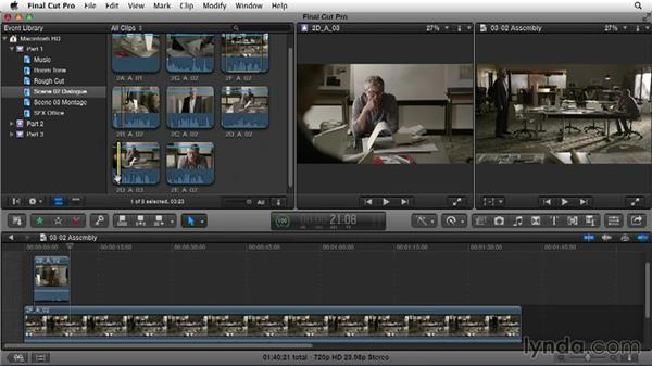 Editing dialogue: Building the basic assembly: Narrative Scene Editing with Final Cut Pro X v10.1.x