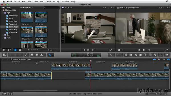 Refining the assembly by adjusting timing: Narrative Scene Editing with Final Cut Pro X v10.1.x