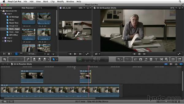 Adding reaction shots: Narrative Scene Editing with Final Cut Pro X v10.1.x