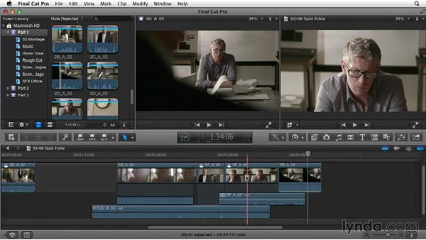 Using split edits: Narrative Scene Editing with Final Cut Pro X v10.1.x