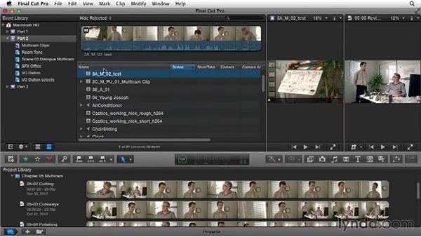 Creating a multicam clip: Narrative Scene Editing with Final Cut Pro X v10.1.x