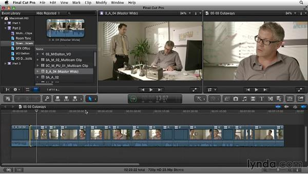Using cutaways: Narrative Scene Editing with Final Cut Pro X v10.1.x