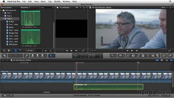 Replacing location audio: Narrative Scene Editing with Final Cut Pro X v10.1.x