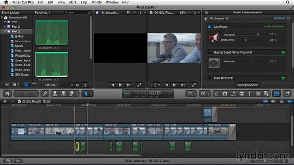 Replacing and repairing the dialogue track: Narrative Scene Editing with Final Cut Pro X v10.1.x