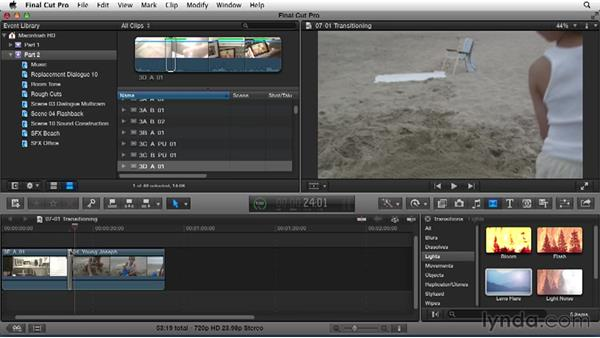 Transitioning between scenes: Narrative Scene Editing with Final Cut Pro X v10.1.x