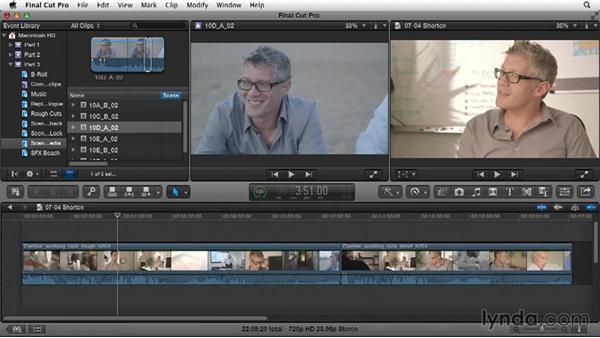 Cutting down the rough cut: Narrative Scene Editing with Final Cut Pro X v10.1.x