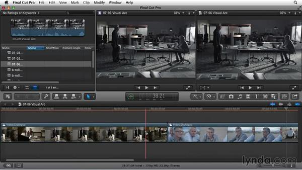 Looking at your visual arc: Narrative Scene Editing with Final Cut Pro X v10.1.x