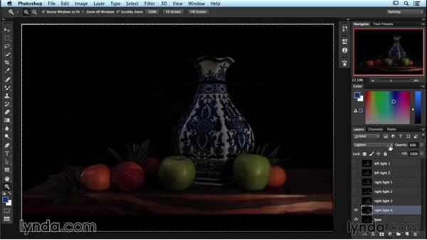 Adjusting your image in Adobe Photoshop: Lighting and Photographing a Still Life