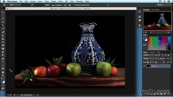 Finalizing your project with Adobe Photoshop: Lighting and Photographing a Still Life