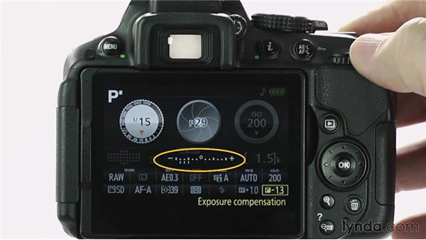 Adjusting exposure compensation: Up and Running with the Nikon D5200 and D5300