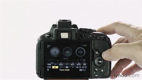 focusing manually rh lynda com nikon d5200 manual focus settings nikon d5200 manual focus assist