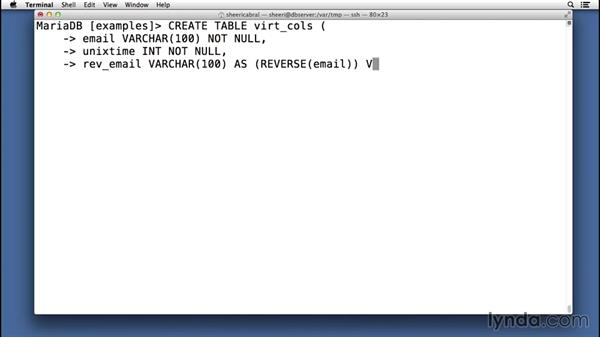 Creating and using virtual columns: Advanced Topics in MySQL and MariaDB