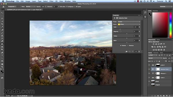 Image and color correction: Shooting Aerial Panoramas with a Quadcopter