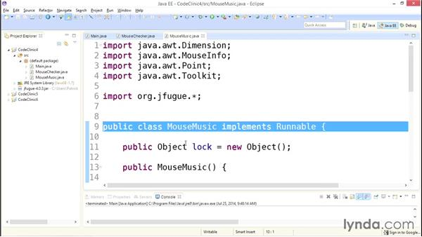 My solution: Creating threads: Code Clinic: Java
