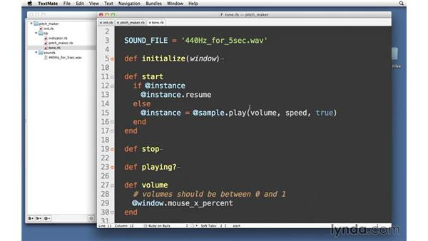 Changing volume: Code Clinic: Ruby