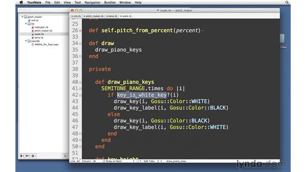 Piano: Using semitone pitches: Code Clinic: Ruby