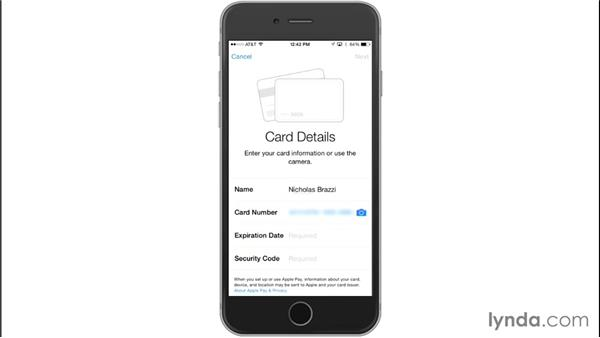 Setting up a credit card with Apple Pay: Up and Running with Apple Pay and iOS 8.1