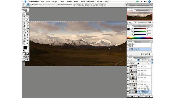 Creating a panorama 2 - Alaska: Enhancing Digital Photography with Photoshop CS2