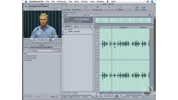 Learning the audio project interface: Soundtrack Pro Essential Training