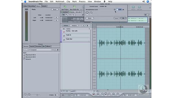 Repairing poor audio: Soundtrack Pro Essential Training