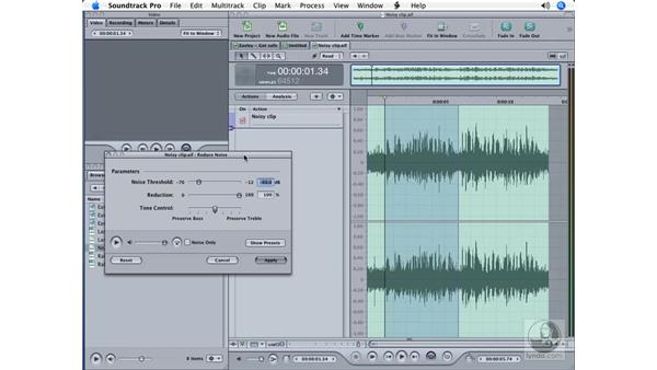 Reducing noise: Soundtrack Pro Essential Training