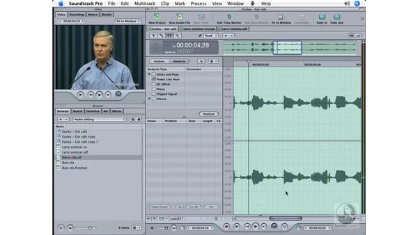 Using the Time Stretch tool: Soundtrack Pro Essential Training