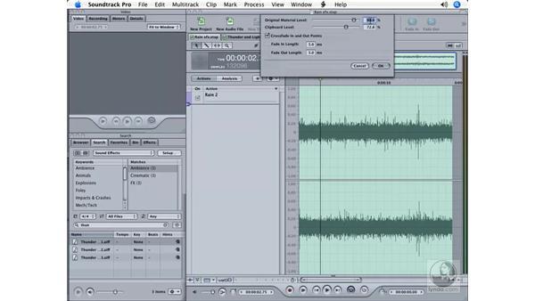 Designing unique sounds: Soundtrack Pro Essential Training