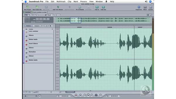 Tips for audio editing: Soundtrack Pro Essential Training