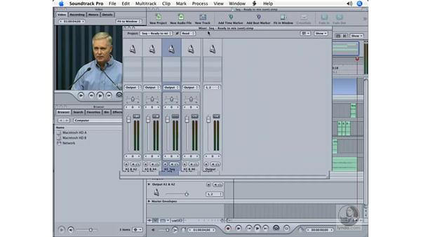 Sending for mixing: Soundtrack Pro Essential Training