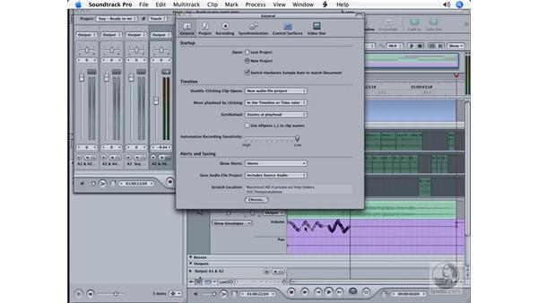 Mixing a project: Soundtrack Pro Essential Training