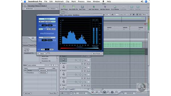 More on filters: Soundtrack Pro Essential Training