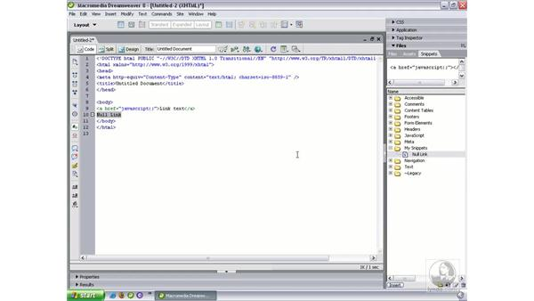 Snippets and shortcuts: Dreamweaver 8 Beyond the Basics