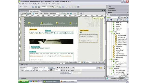 Creating nested templates: Dreamweaver 8 Beyond the Basics