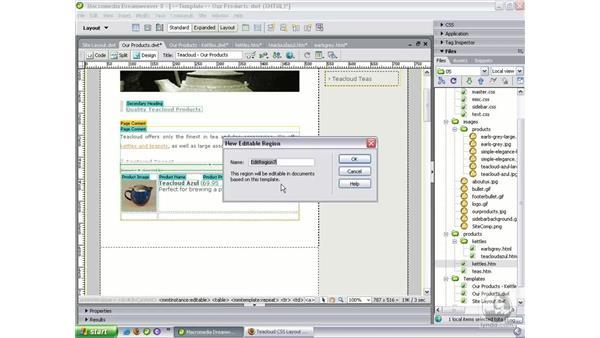 Using repeating regions: Dreamweaver 8 Beyond the Basics