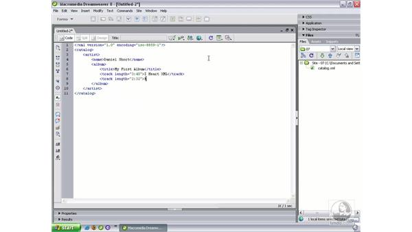 Understanding XML structure: Dreamweaver 8 Beyond the Basics