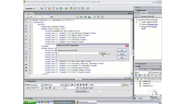 Transforming XML in the browser: Dreamweaver 8 Beyond the Basics