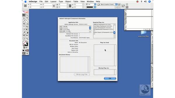 Viewing InDesign info and document history: InDesign CS2 Power Shortcuts