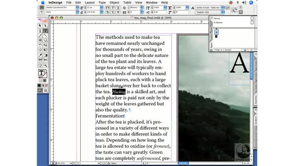 Changing type size and color: InDesign CS2 Power Shortcuts
