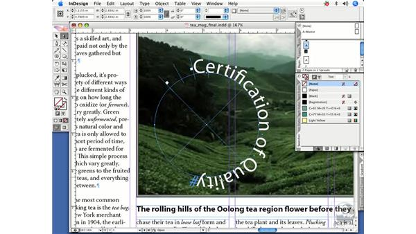 Text on a path: InDesign CS2 Power Shortcuts