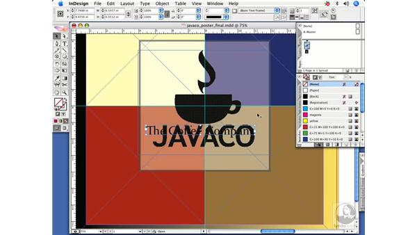 Applying color to text by selecting the containing frame: InDesign CS2 Power Shortcuts