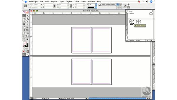 Starting with a two-page spread: InDesign CS2 Power Shortcuts