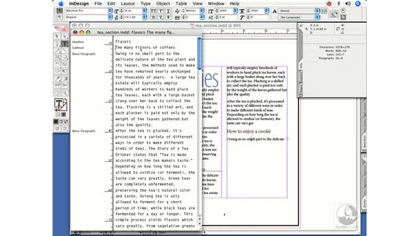 Text navigation: InDesign CS2 Power Shortcuts