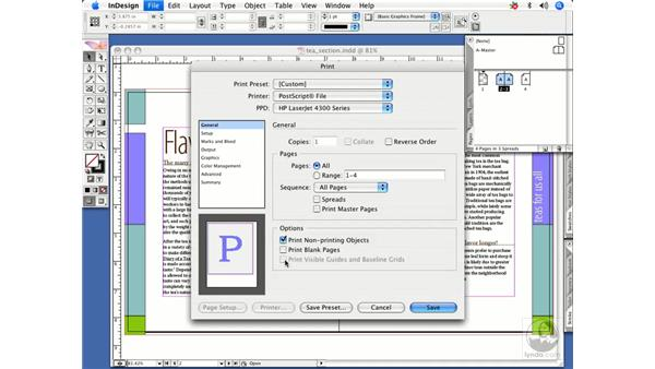 Print dialogue shortcuts: InDesign CS2 Power Shortcuts