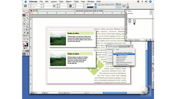 Locating transparent objects in a document: InDesign CS2 Power Shortcuts