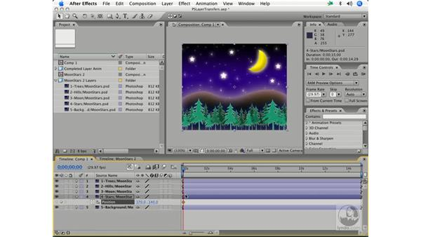 Basic layer transfers with style effects: After Effects 7 and Photoshop CS2 Integration